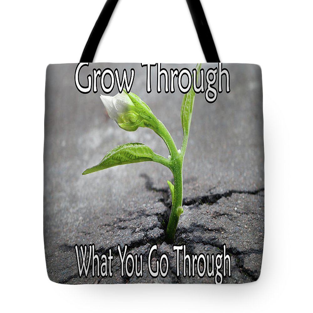 Grow Tote Bag featuring the digital art Grow by Junction 116
