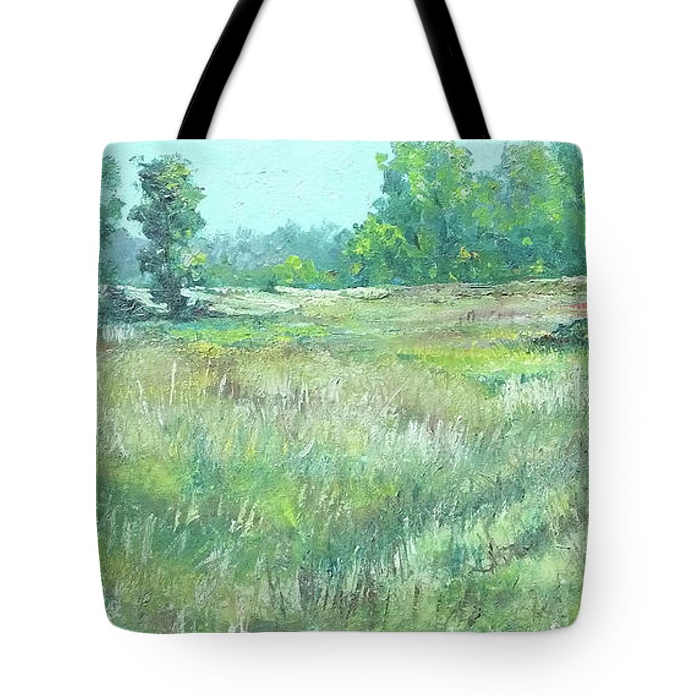 Tote Bag featuring the painting Havenwoods - Original Oil 30x15 by Doug Jerving