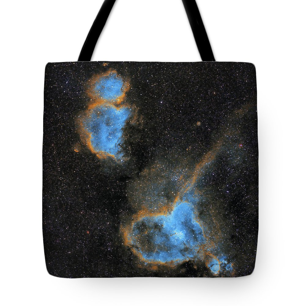 Nebula Tote Bag featuring the photograph Heart and Soul Nebula by Prabhu Astrophotography