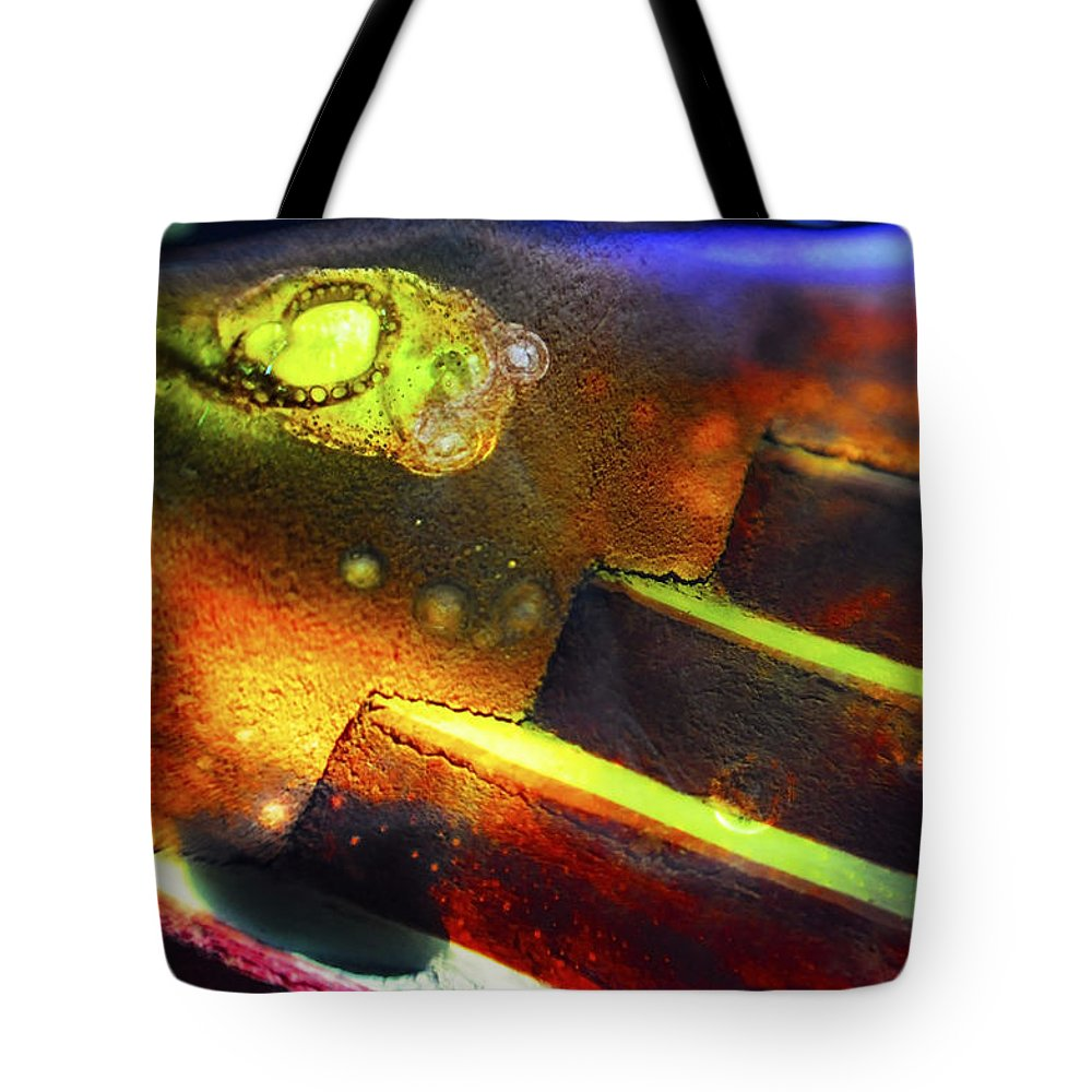 Abstract Tote Bag featuring the photograph Heart of Glass by Skip Hunt