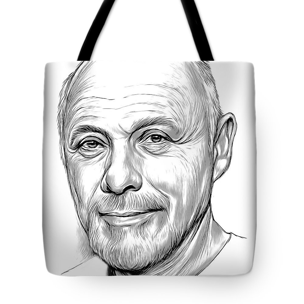 American Tote Bag featuring the drawing Hector Elizondo 2 by Greg Joens