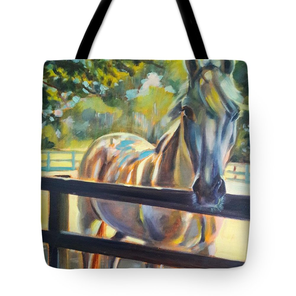 Tote Bag featuring the painting Hot and Humid by Kaytee Esser