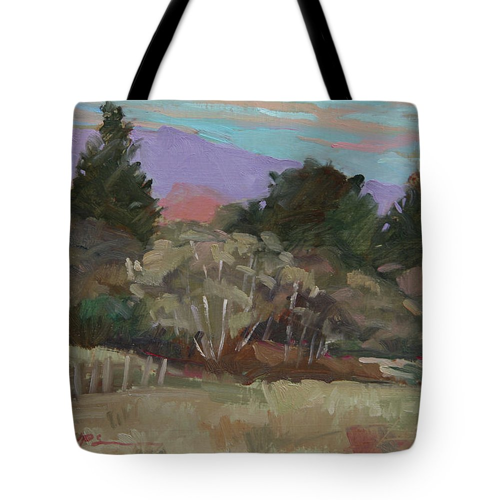 Northern California Tote Bag featuring the painting Humbolt Fields by Betty Jean Billups