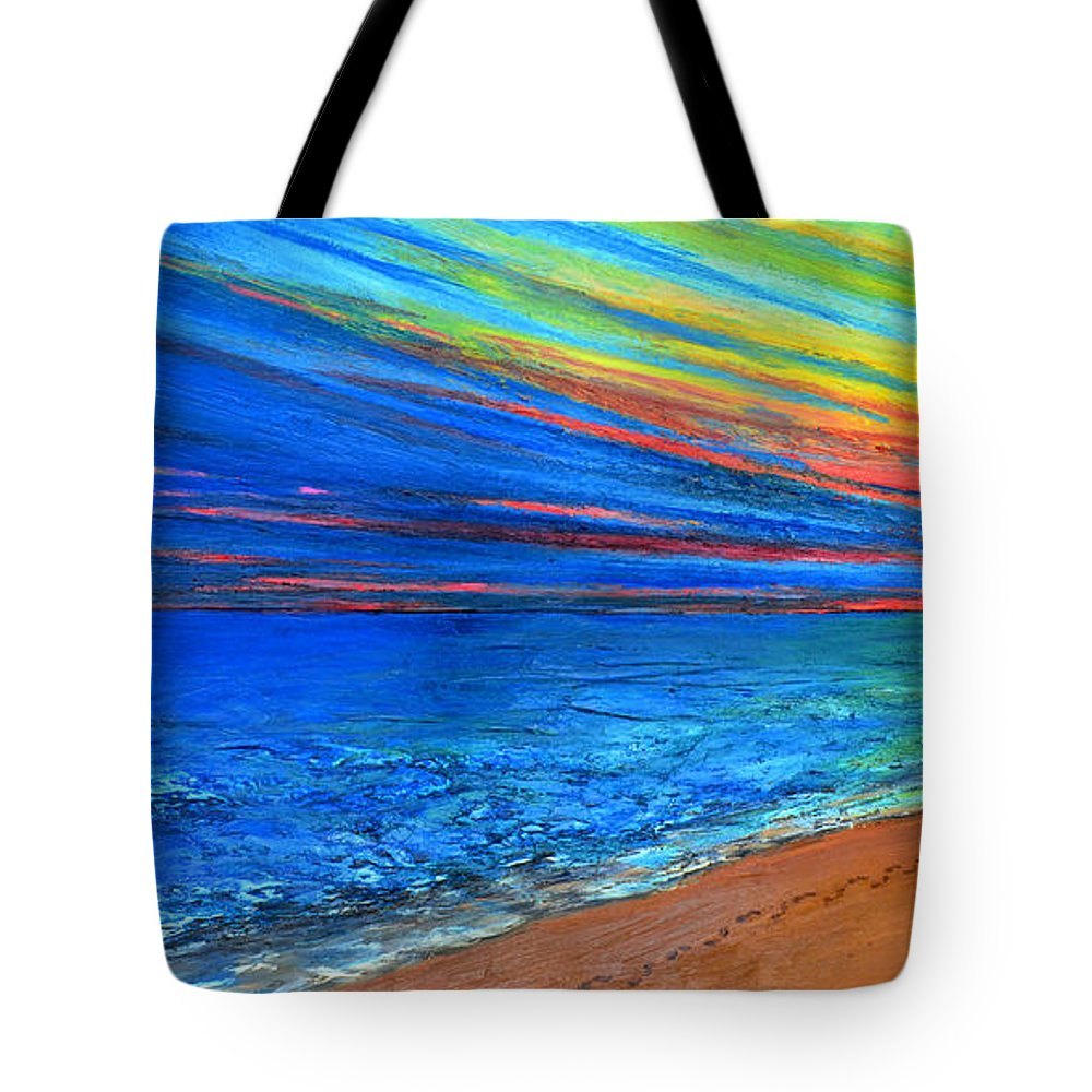Art Tote Bag featuring the painting I Am Not Alone by Patricia Awapara