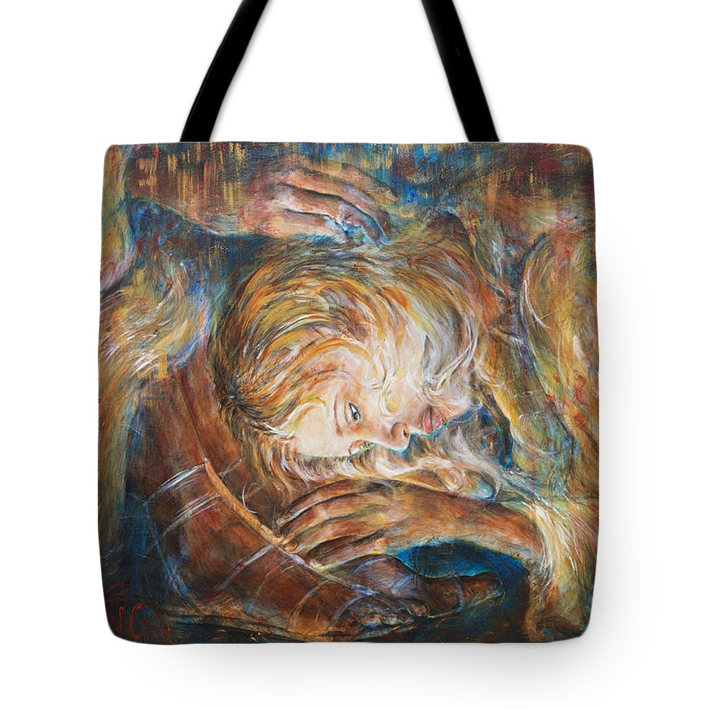 Mary Magdalene Tote Bag featuring the painting I Cried For You by Nik Helbig