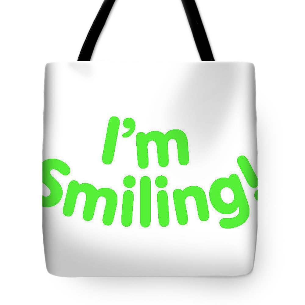 Colorado Tote Bag featuring the digital art I'm Smiling by Pam Roth O'Mara