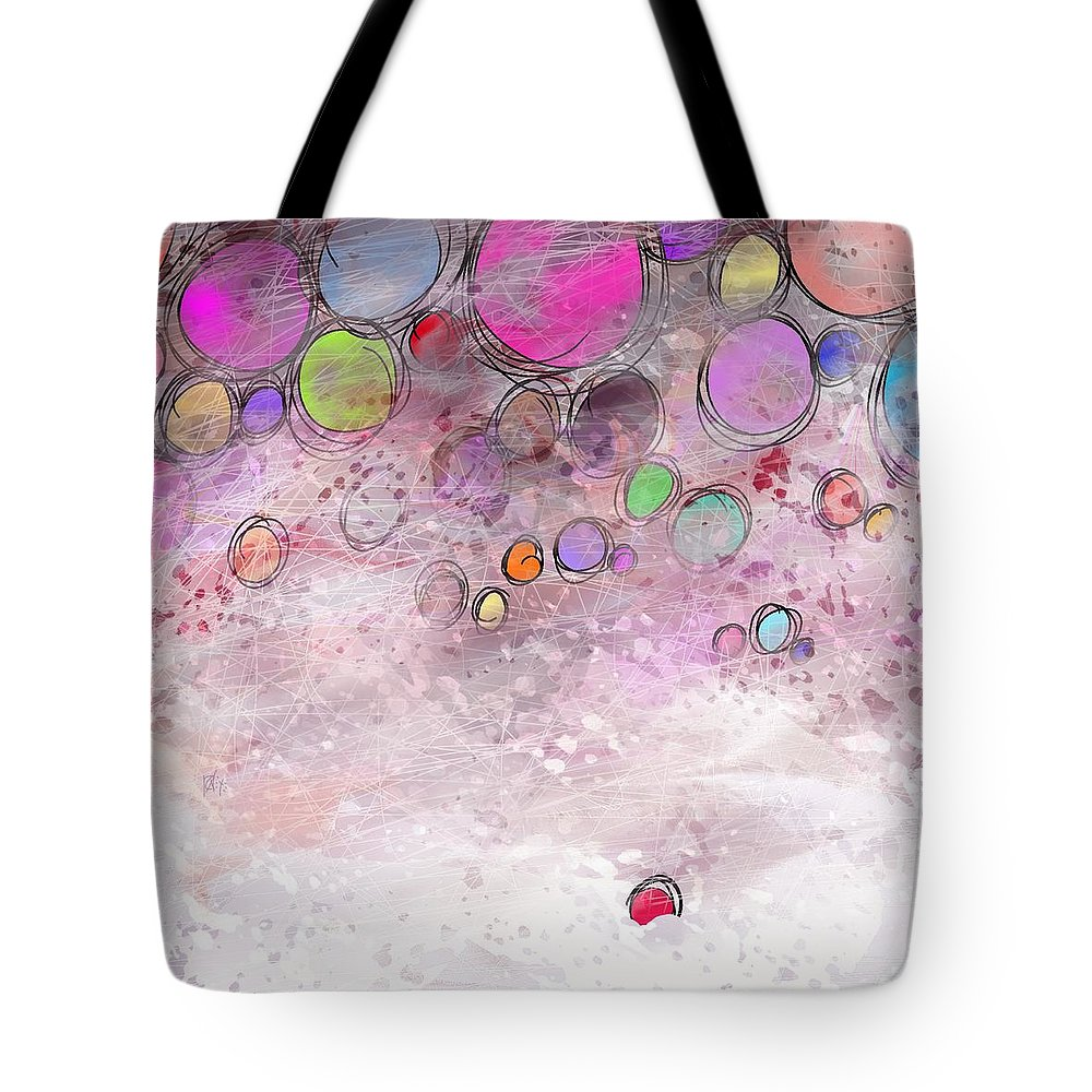 Abstract Tote Bag featuring the digital art In a world alone by William Russell Nowicki