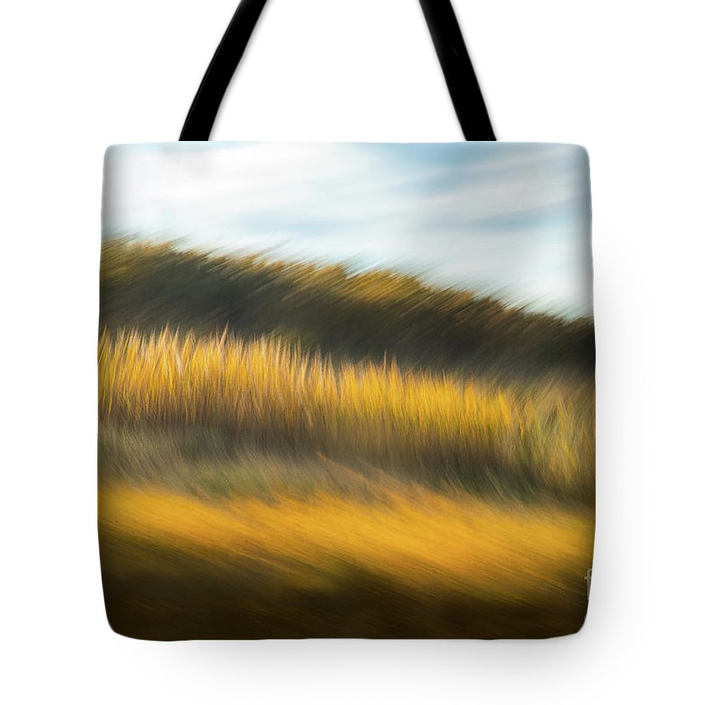 Abstracts Tote Bag featuring the photograph In Fields of Gold by Marilyn Cornwell