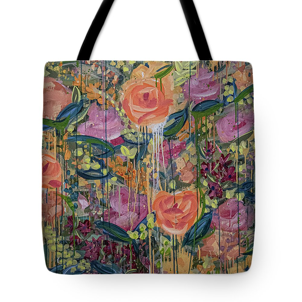 English Garden Tote Bag featuring the painting In The Garden by Amanda Armstrong