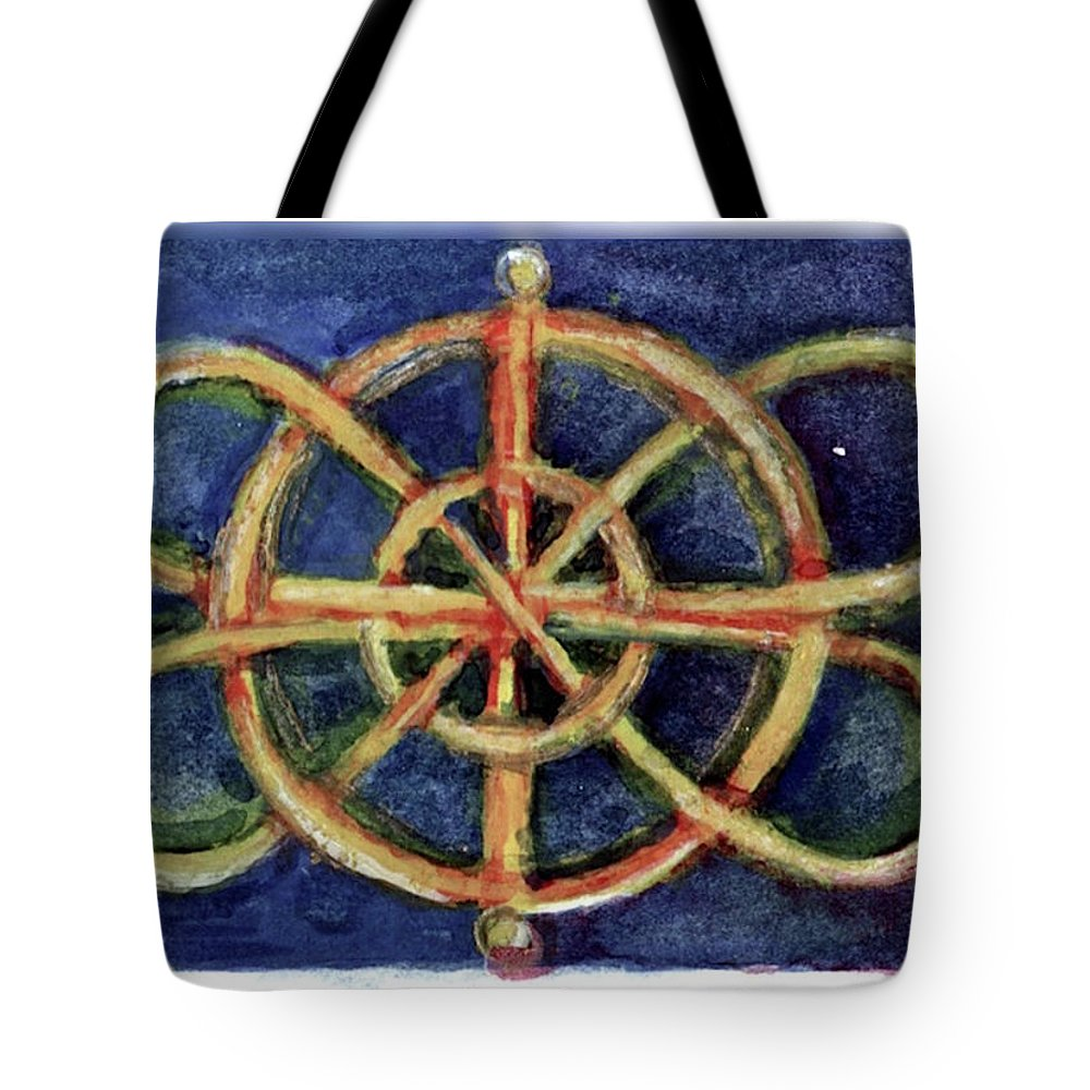 Miniature Tote Bag featuring the painting Infinity Loops by Elle Smith Fagan