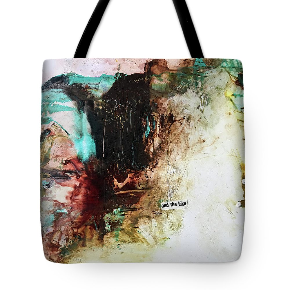 Abstract Art Tote Bag featuring the painting Jester Wearing Gold by Rodney Frederickson