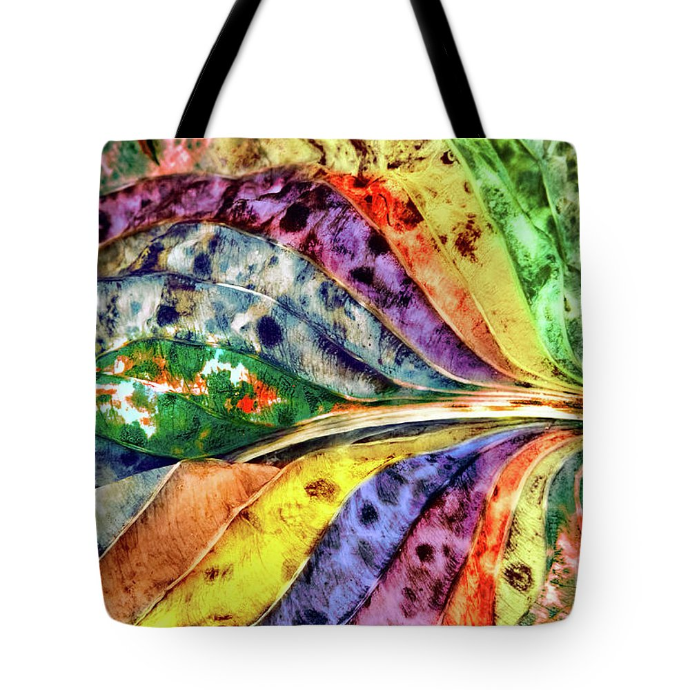 Abstracts Tote Bag featuring the photograph Joseph's Coat by Marilyn Cornwell