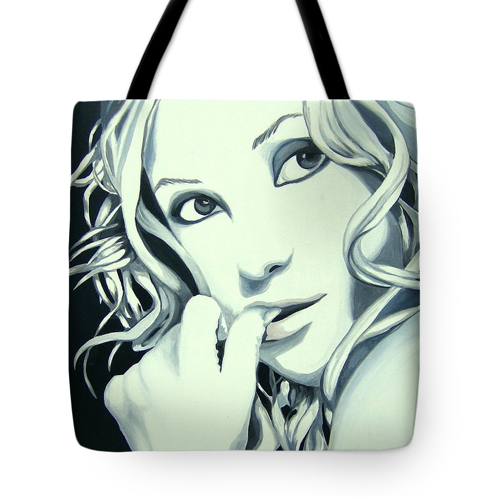 Kate Tote Bag featuring the painting Kate by Holly Picano