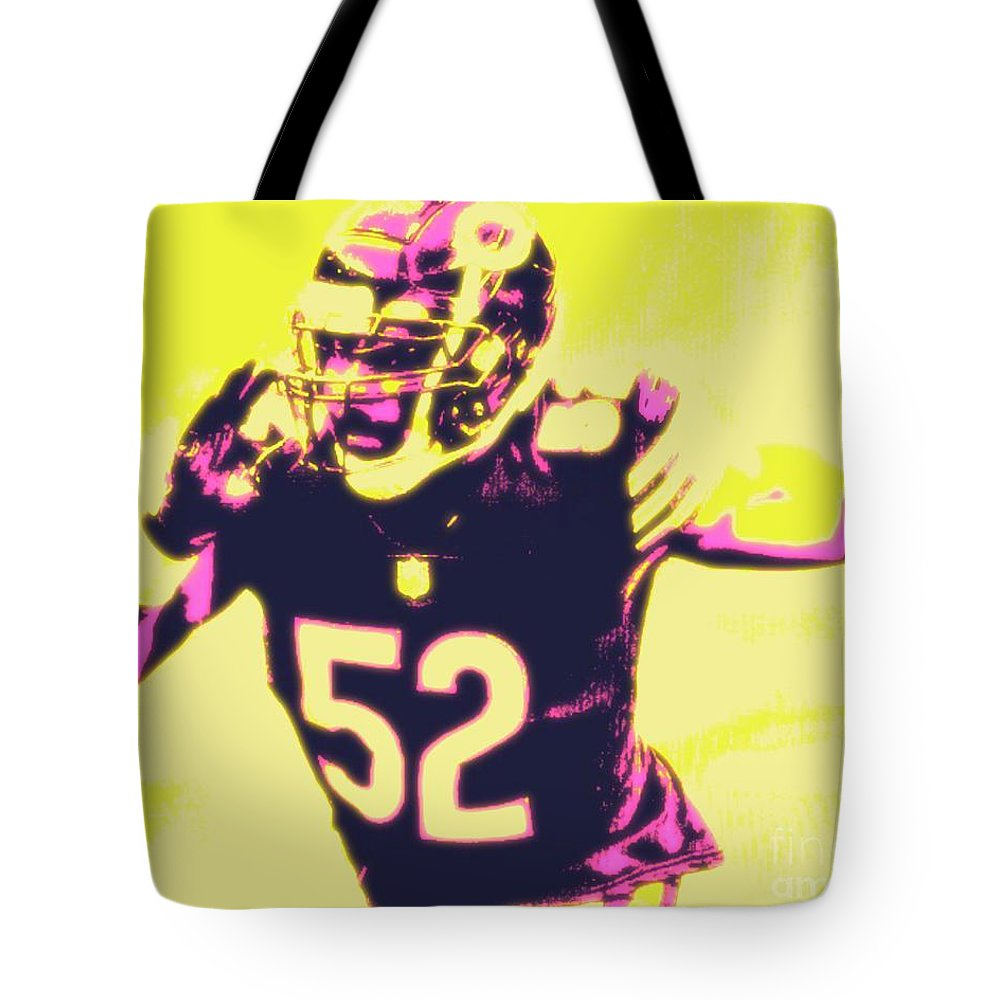 Khalil Tote Bag featuring the painting Khalil Mack by Jack Bunds