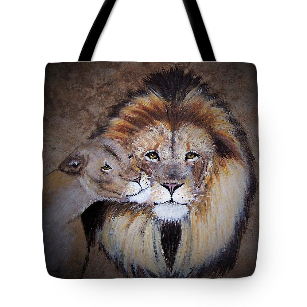 King Tote Bag featuring the painting King And His Queen by Suzy Combs