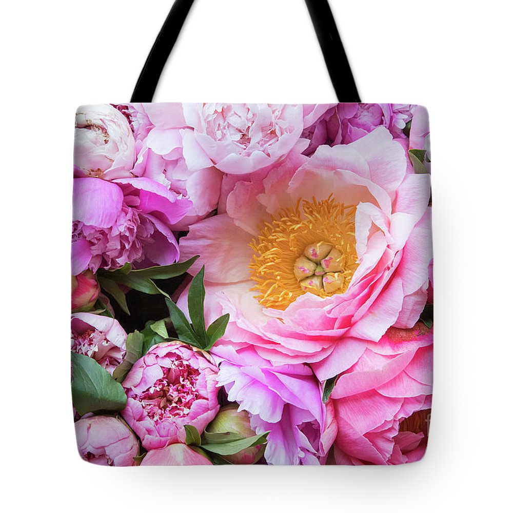 Peonies Tote Bag featuring the photograph Kissed by Spring by Marilyn Cornwell