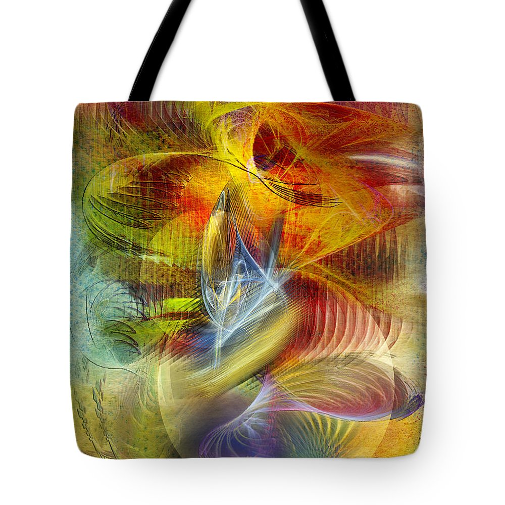 Affordable Art Tote Bag featuring the digital art Lady And Her Shells by John Robert Beck