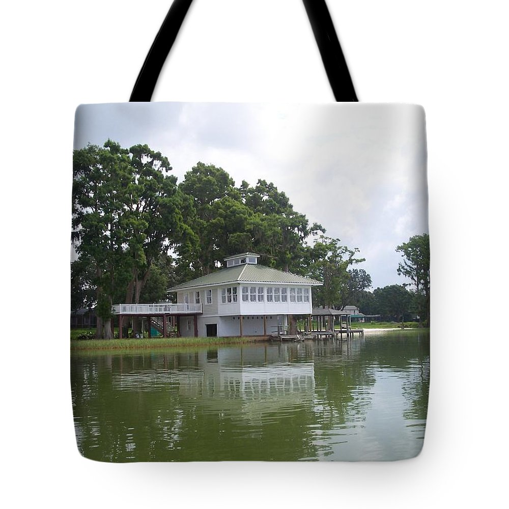 Lakefront Tote Bag featuring the photograph Lakefront by Pharris Art