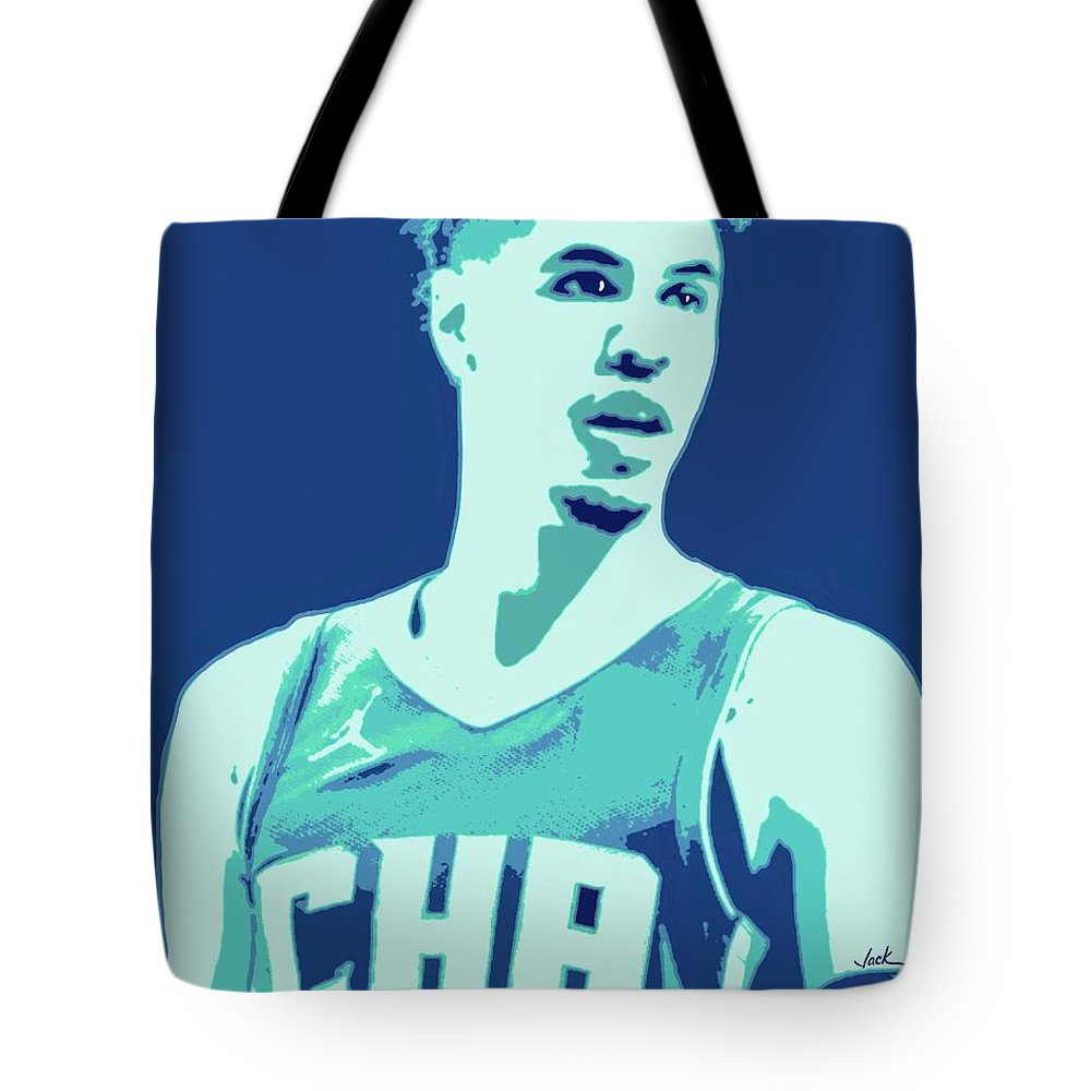 Lamelo Tote Bag featuring the painting LaMelo Ball by Jack Bunds