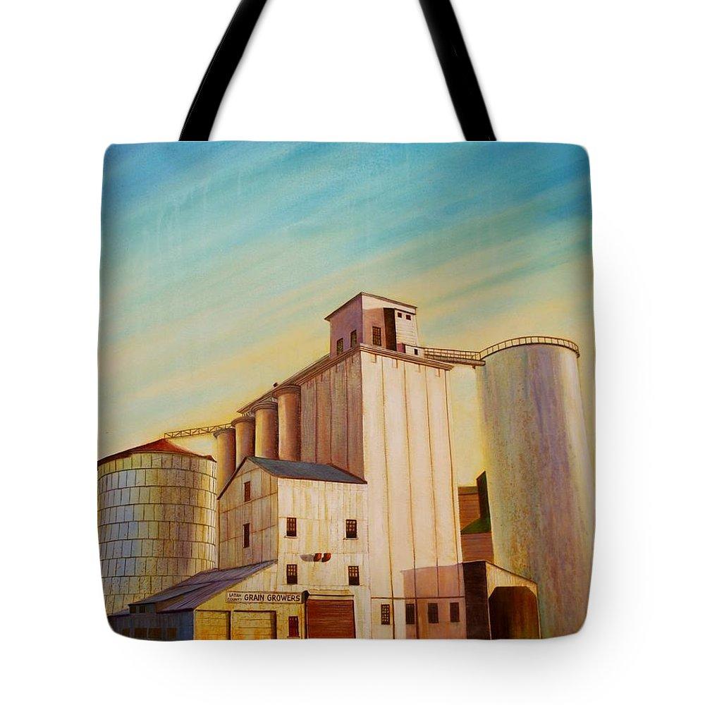 Grain Tote Bag featuring the painting Latah County Grain Growers by Leonard Heid