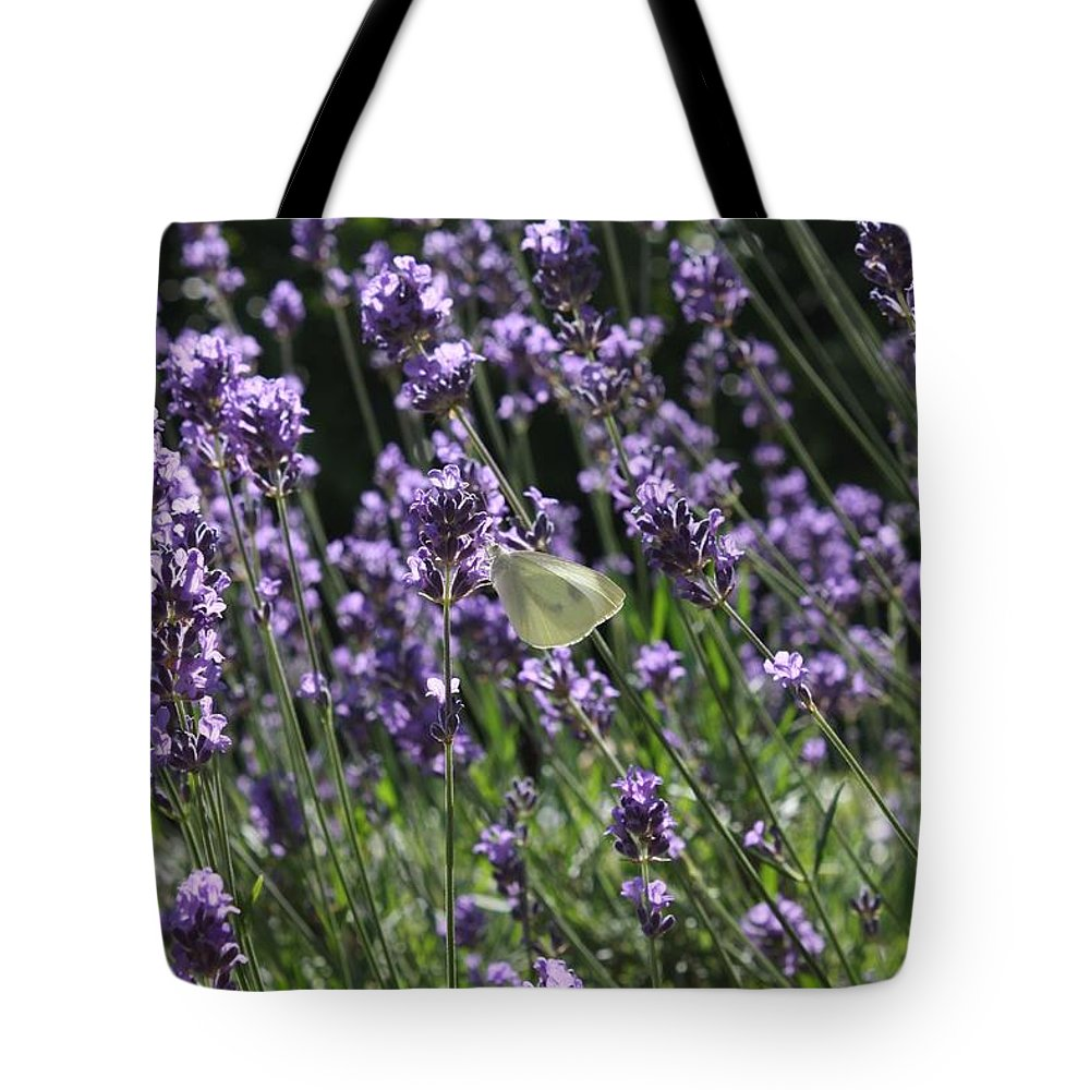 Lavender Tote Bag featuring the photograph Lavender by Vicki Cridland