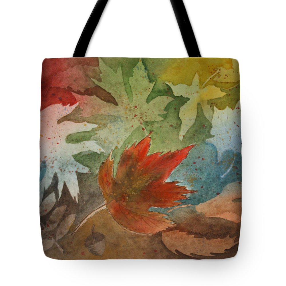 Leaves Tote Bag featuring the painting Leaves II by Patricia Novack