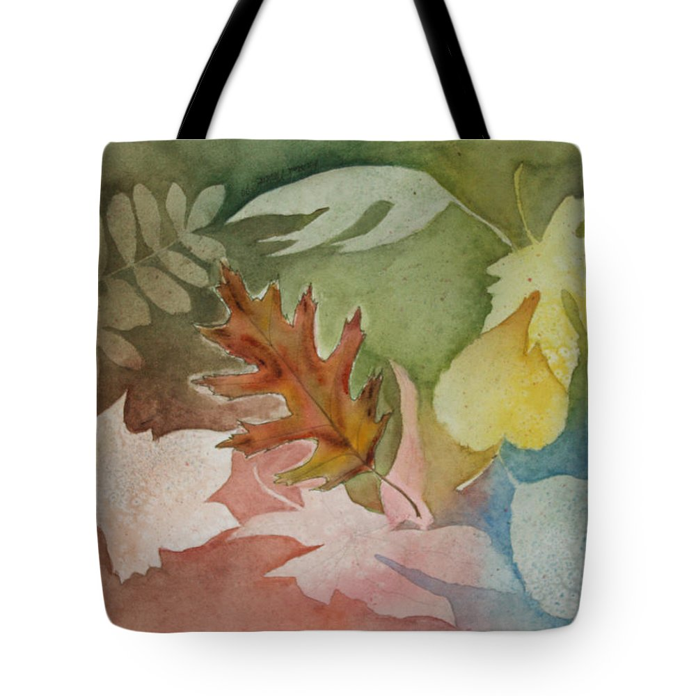 Leaves Tote Bag featuring the painting Leaves IV by Patricia Novack