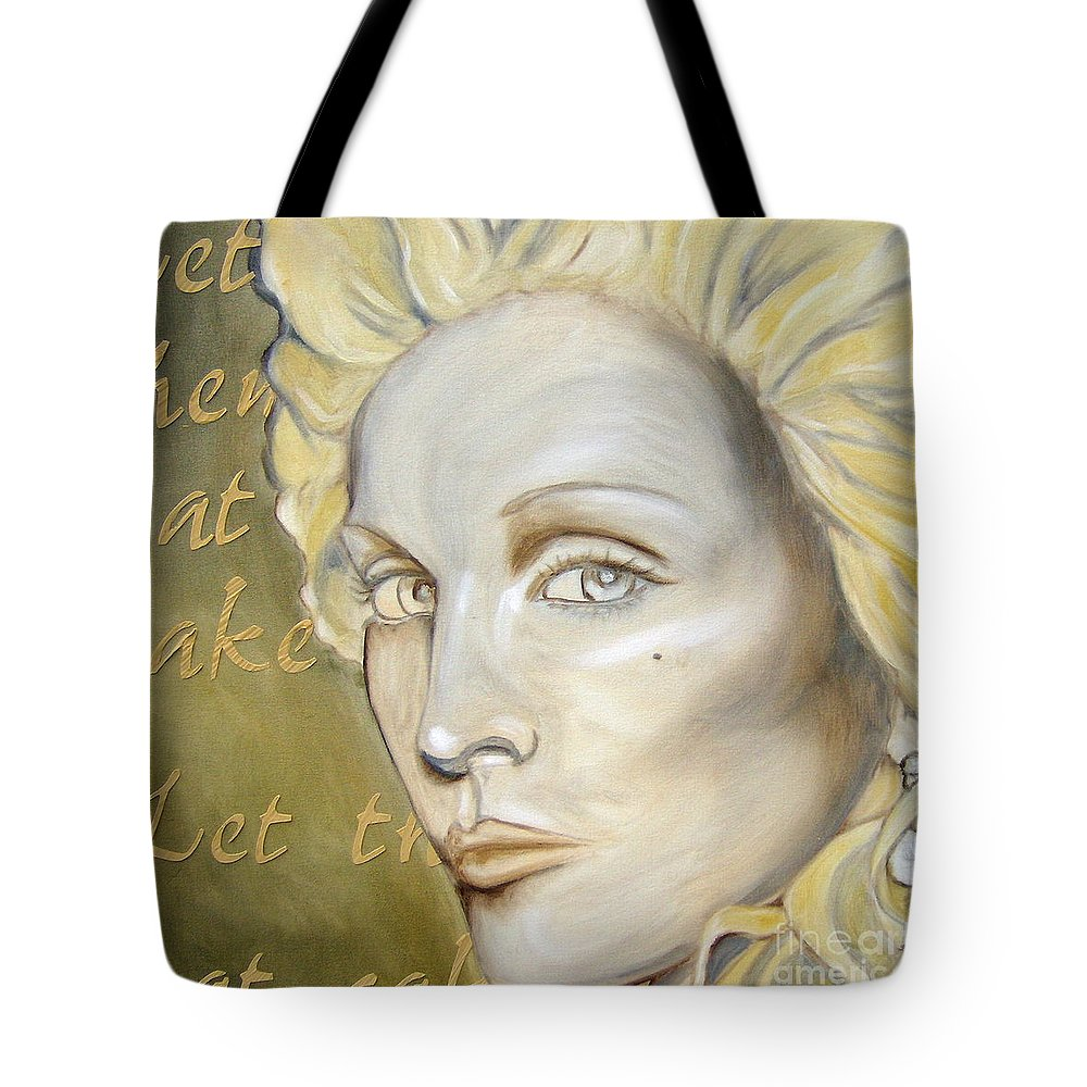 Madonna Tote Bag featuring the painting Let Them Eat Cake by Holly Picano