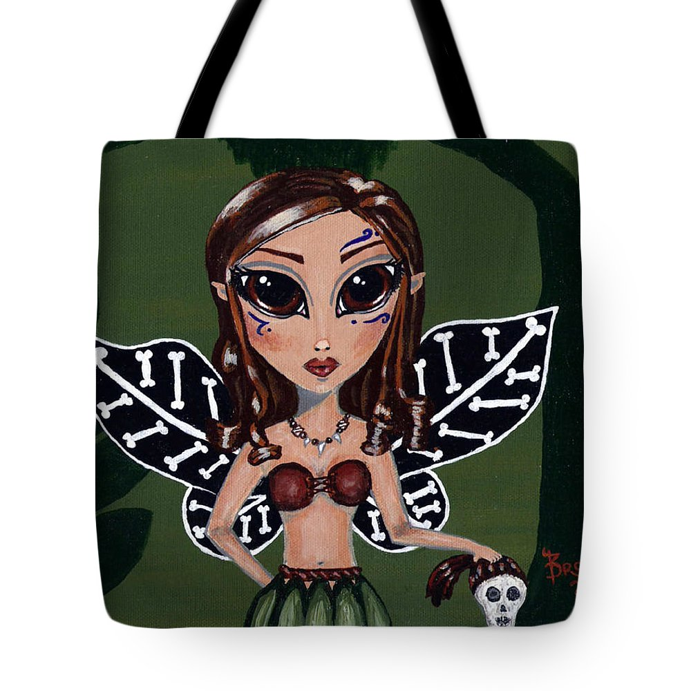 Fairy Tale Tote Bag featuring the painting Little Barbarian by Bronwen Skye