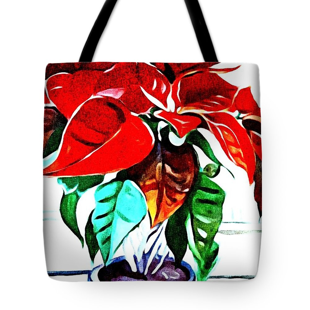Still Life Tote Bag featuring the painting Living Flower by Andrew Johnson