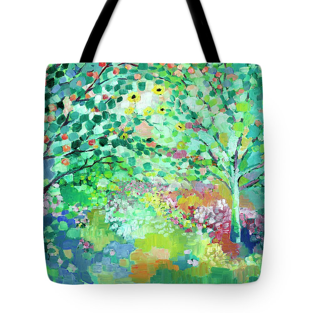 Landscape Tote Bag featuring the painting Looking Beyond by Jennifer Lommers