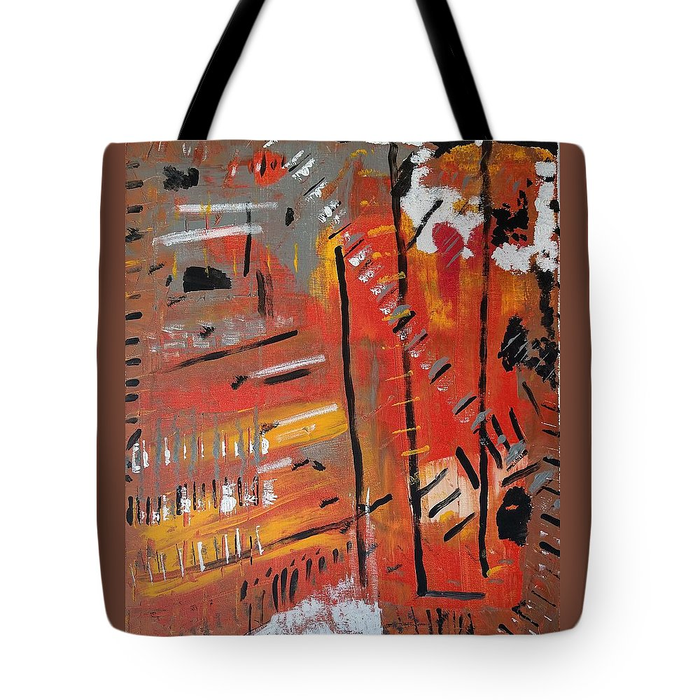 Colorado Tote Bag featuring the painting Looking Like October by Pam Roth O'Mara
