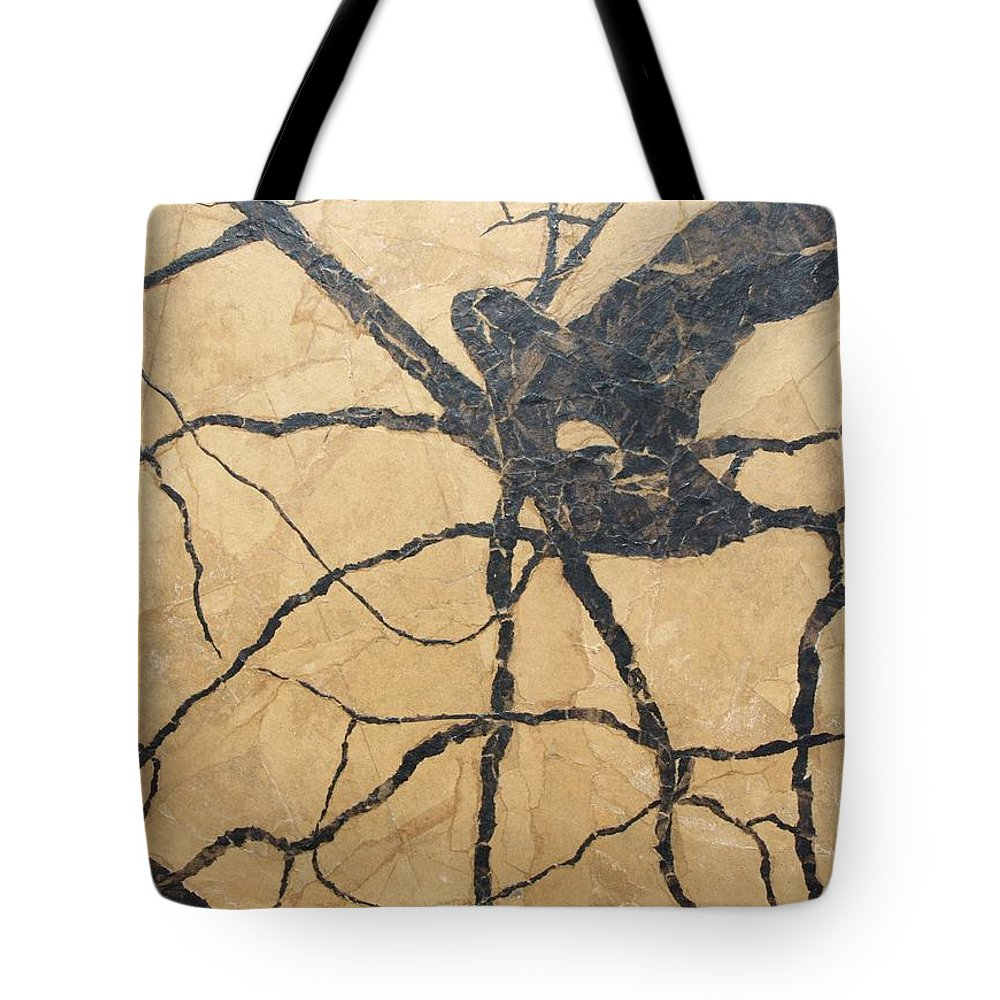Abstract Tote Bag featuring the painting Looking Up by Leah Tomaino
