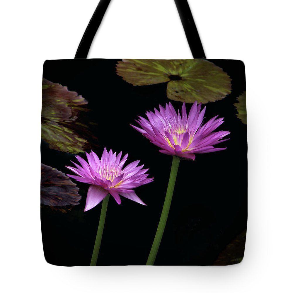 Lily Tote Bag featuring the photograph Lotus Water Lilies by Rudy Umans