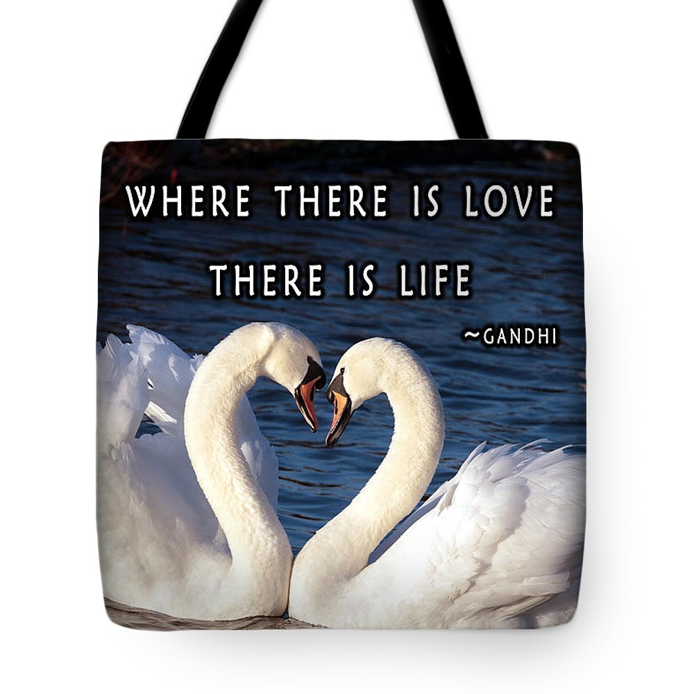 Love Tote Bag featuring the digital art Love And Life by Junction 116