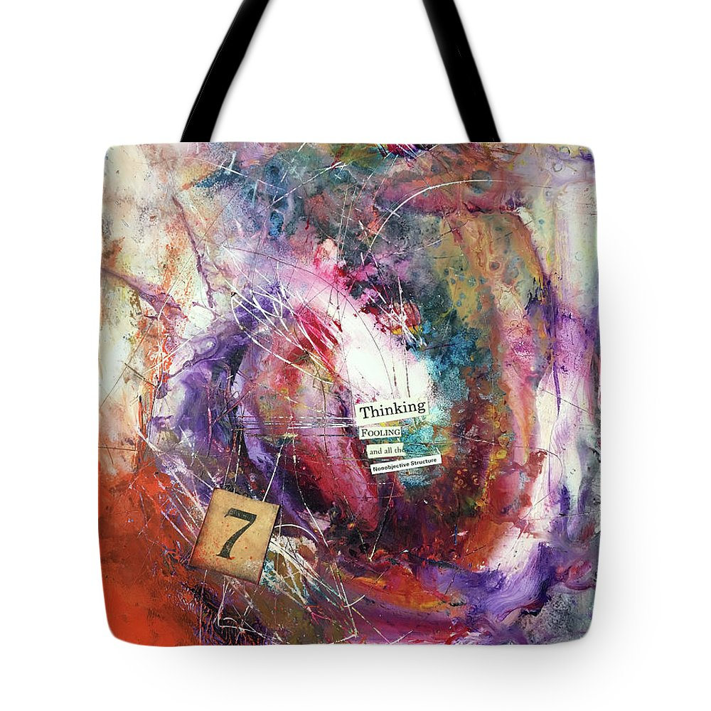 Abstract Art Tote Bag featuring the painting Love's Innermost by Rodney Frederickson