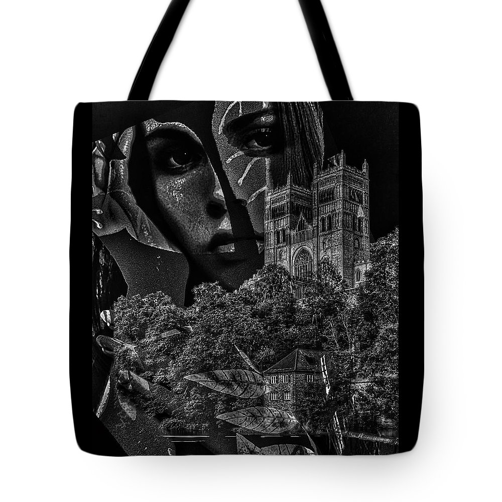 Surrealism Tote Bag featuring the digital art Luna III by Gunilla Munro Gyllenspetz