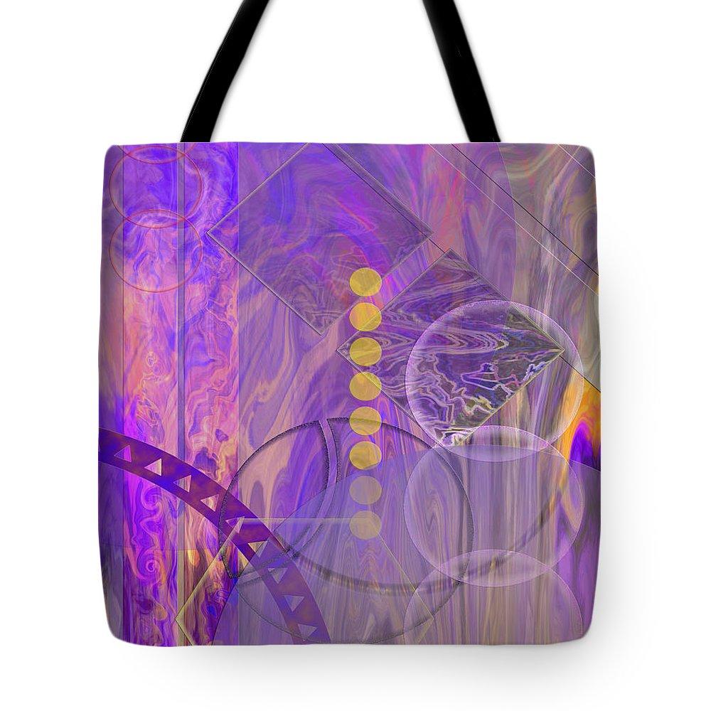 Lunar Impressions 3 Tote Bag featuring the digital art Lunar Impressions 3 by John Robert Beck