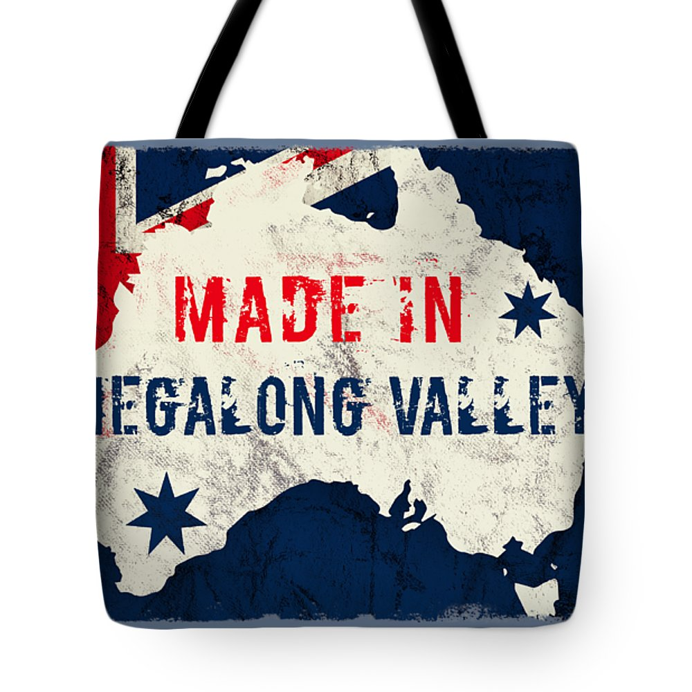 Megalong Valley Tote Bag featuring the digital art Made In Megalong Valley, Australia #megalongvalley #australia by TintoDesigns