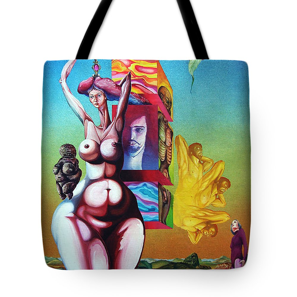 Surrealism Tote Bag featuring the painting Magna Mater by Otto Rapp