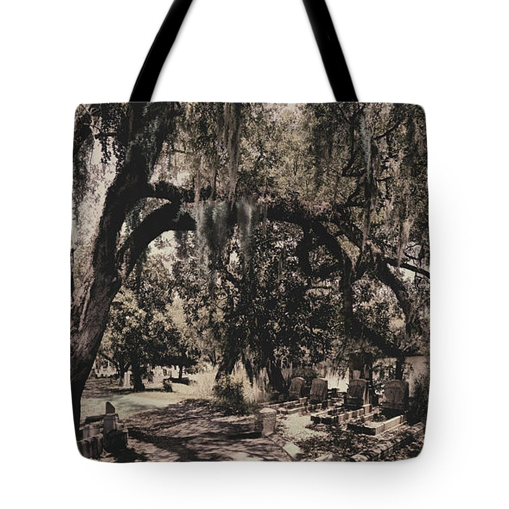 Castle Tote Bag featuring the painting Magnolia Cemetery I by James Christopher Hill