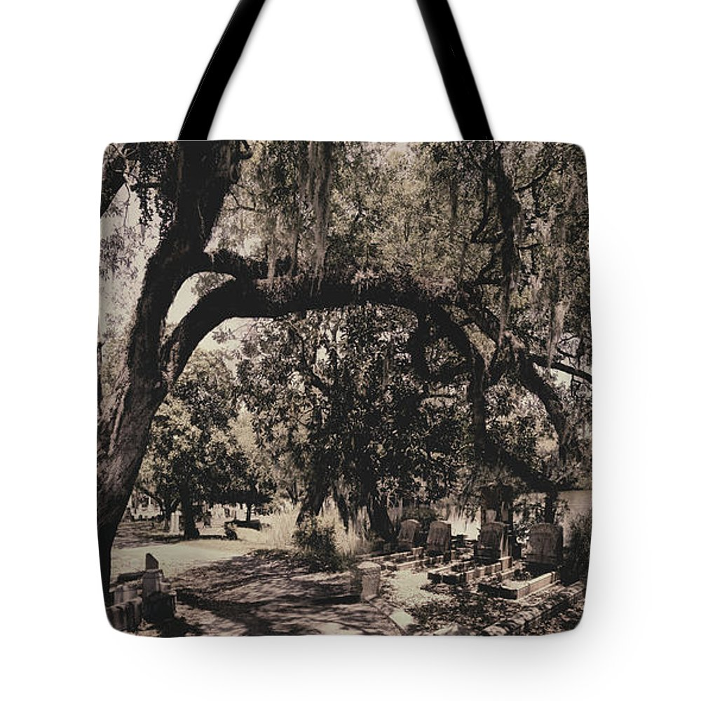 Castle Tote Bag featuring the photograph Magnolia Cemetery by James Christopher Hill