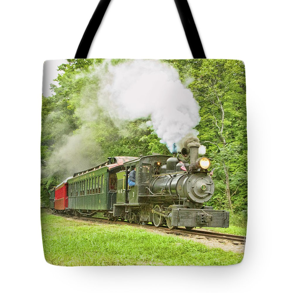 Abstracts Tote Bag featuring the photograph Maine Coast Steam by Marilyn Cornwell