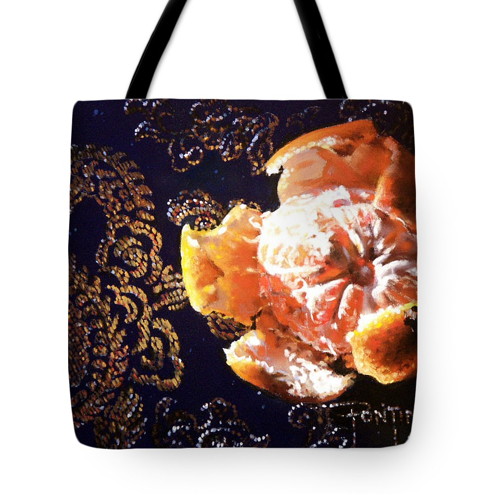 Mandarin Tote Bag featuring the painting Mandarin by Dianna Ponting