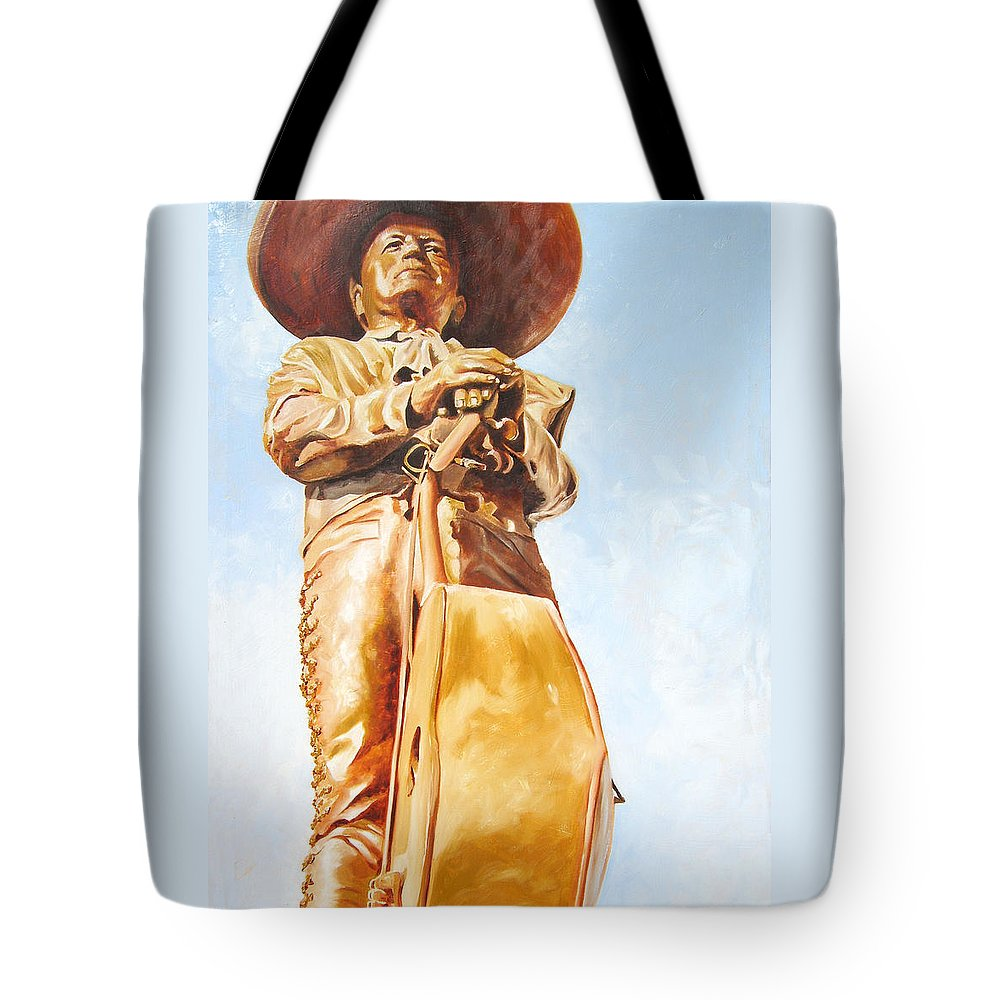 Mariachi Tote Bag featuring the painting Mariachi by Laura Pierre-Louis