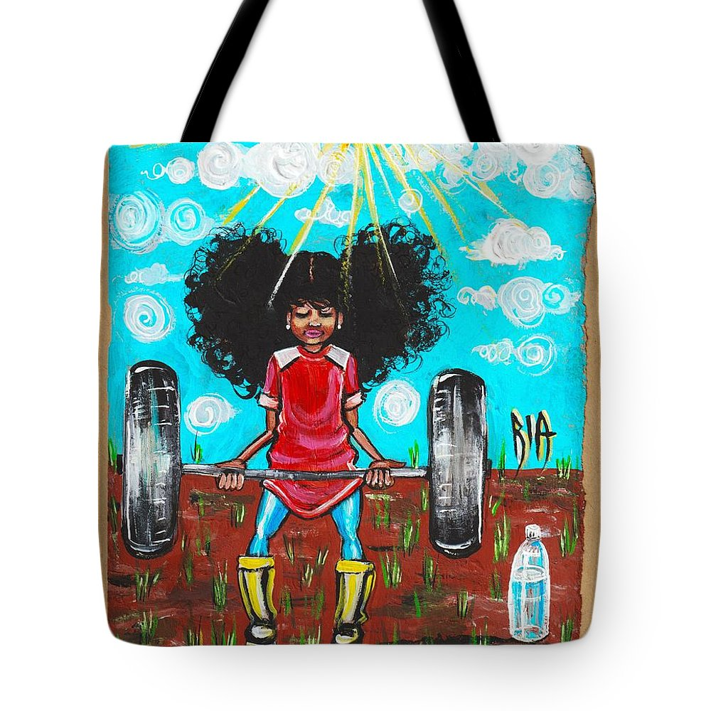 Jehovah Tote Bag featuring the painting Mark 10 vs 27 by Artist RiA