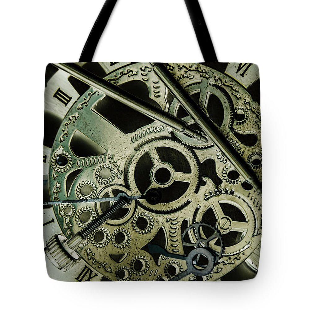 Industrial Tote Bag featuring the photograph Metal Metrics by Jorgo Photography - Wall Art Gallery