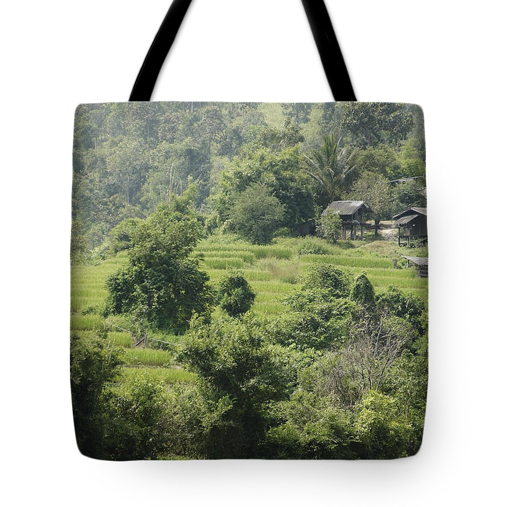 3scape Tote Bag featuring the photograph Misty Mountain Village by Adam Romanowicz