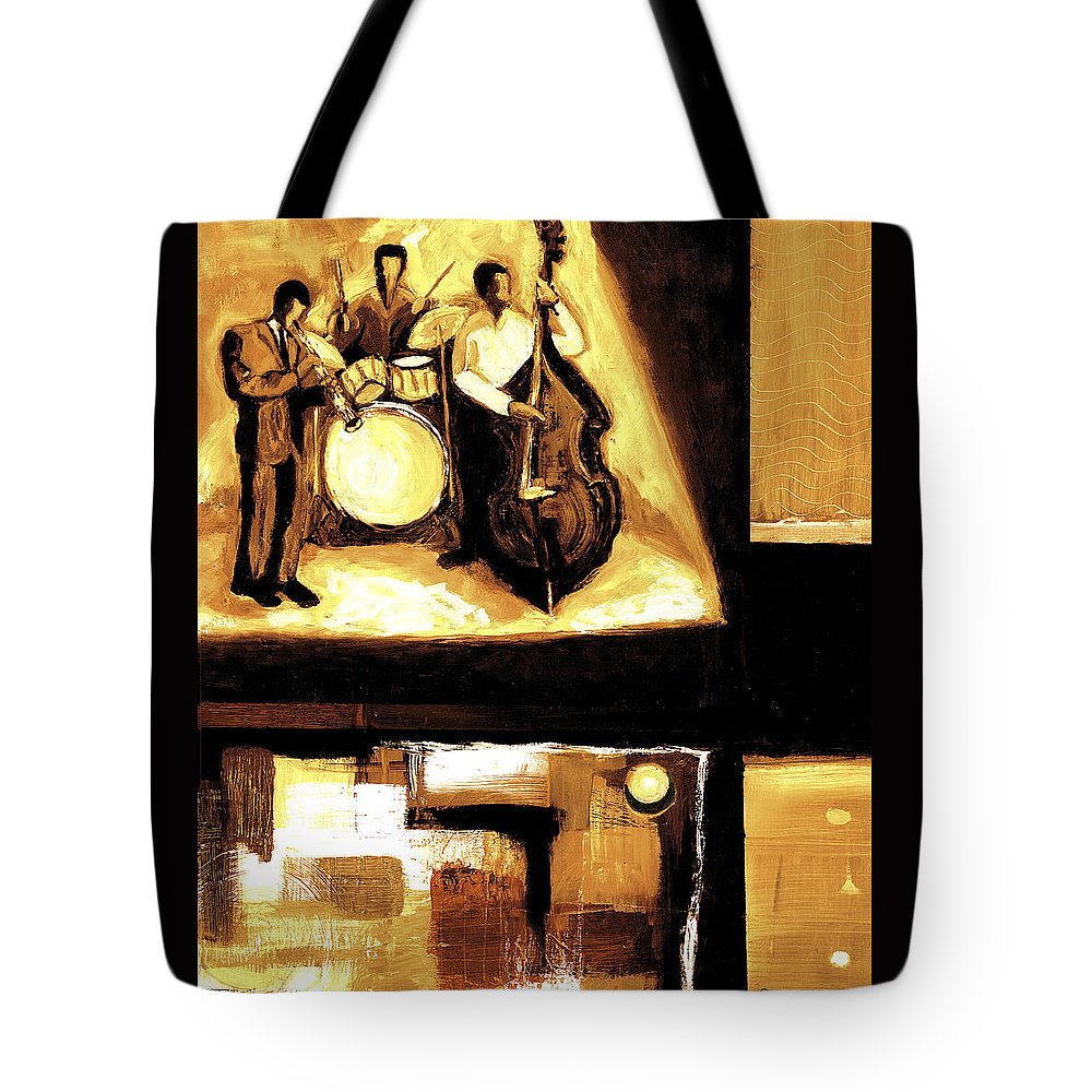 Everett Spruill Tote Bag featuring the painting Modern Jazz Number Two by Everett Spruill