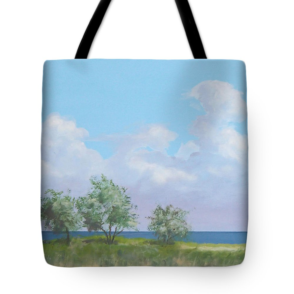 Monterey Tote Bag featuring the painting Monterey by Philip Fleischer